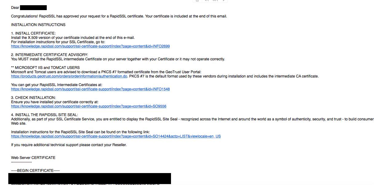 Installing The Ssl Certificate Of Rapidssl In Ispmanager